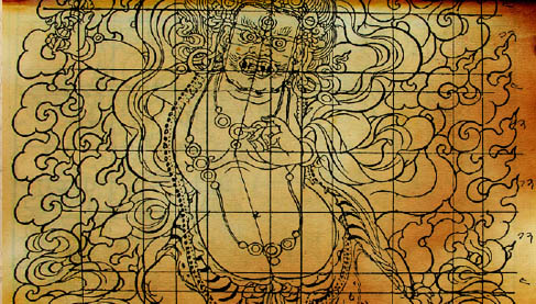 thangka-paintings-process-sketching